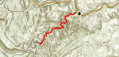 Grand Wash Trail via Northeast Trailhead Map