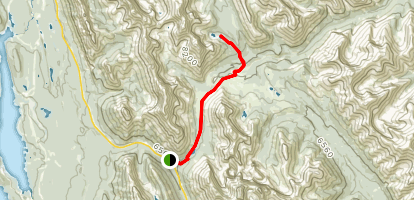 Elbow Pass Trail to Tombstone Campground and Lake Map
