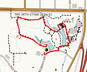 Will Rogers Gardens Park Trail Map