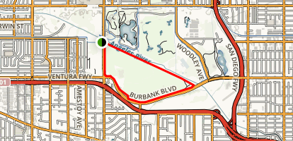 Sepulveda Basin: Upstream Of Balboa Map