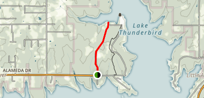 Lake Thunderbird: Hog Creek Trail Map