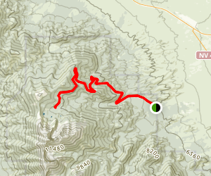 Wheeler Peak Scenic Drive Map