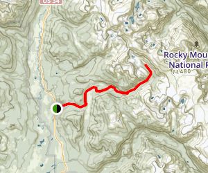 Haynach Lakes Trail Map