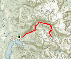 North Inlet Trail to Lake Nokoni Map