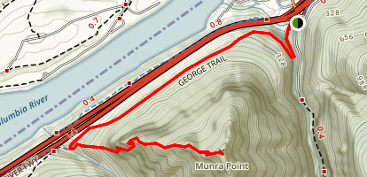Munra Point via George Trail Map