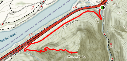 Munra Point via George Trail [CLOSED] Map