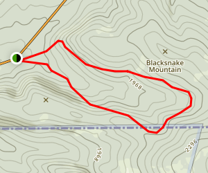 Blacksnake Mountain Trail Map
