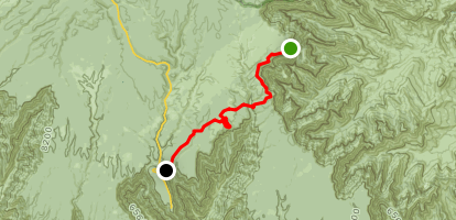 Ken Patrick Trail South from Point Imperial Map