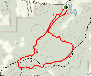 Butler Lake Trail Map