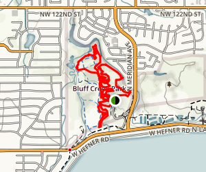 Bluff Creek Park Loop Trail  Map
