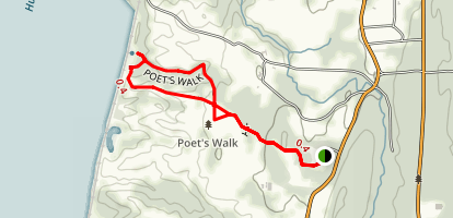 Poet's Walk Trail Map