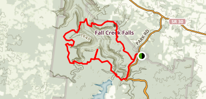 Lower Loop Overnight Trail Map