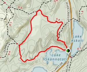 Pine Swamp Loop Map