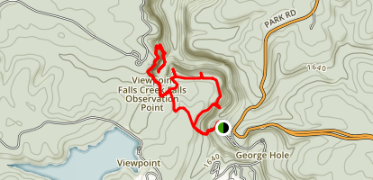 Gorge Overlook and Woodland Trails Map