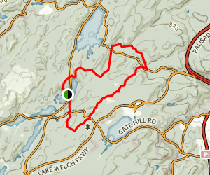 Red Cross, Beech Trail and Long Path Loop from Lake Skannatati Map
