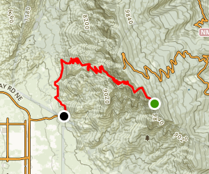 La Luz Trail (Downhill) Map
