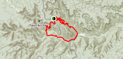 Twin Arches Loop Trail Map