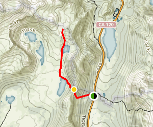 Gaylor Lakes Trail Map