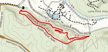 Puma Ridge Trail to Horseshoe Loop Map