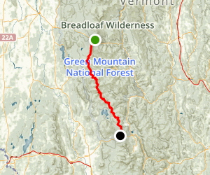 Long Trail: VT 125 to US 4 Map