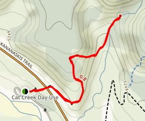 Cat Creek Waterfall Map