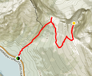 Windtower Trail via West Wind Pass Map