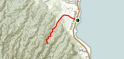Wailele Falls Trail [PRIVATE PROPERTY] Map