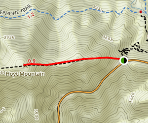 Hoyt Mountain via Georges Gap Map