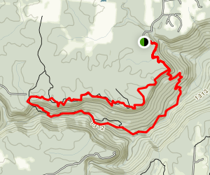 Big Creek Gulf, Big Creek Rim, and Stone Door Trails Loop Map