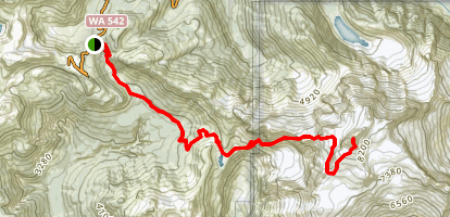Mount Shuksan via the Fischer Chimneys Approach Map