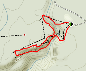 Foster Falls Small Wild Area Loop Map