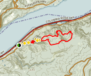 Angels Rest Loop Trail Map
