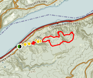 Angels Rest to Devil's Rest Loop Trail (CLOSED) Map