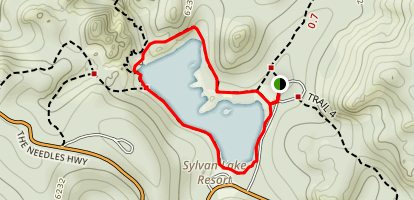 Lake Sylvan Trail Map