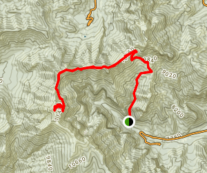 Mt. Charleston via Deer Creek Trail Map