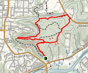 Vickery Creek Trail Map