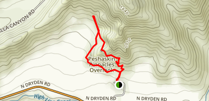 Peshastin Pinnacles Loop Trail Map