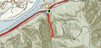 Wahclella Falls Trail [CLOSED] Map