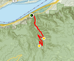Oneonta Trail (CLOSED) Map