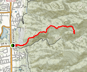 Adam's Cabin Trail Map