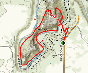 Misery Ridge and River Trail Map