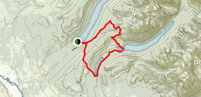 Quartz Lake Loop Trail Map