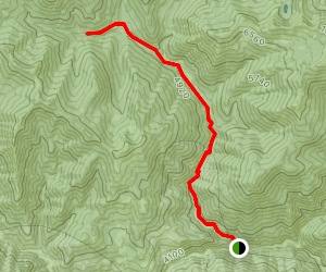 North Fork Coffee Creek Trail to Schlomberg Cabin Map