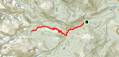 Ouzel Lake Trail Map