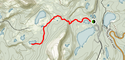Marjorie Lake Trail Map