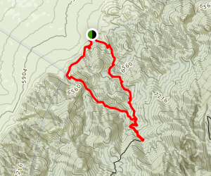 Piedra Lisa Trail and Del Agua Trail Loop Map