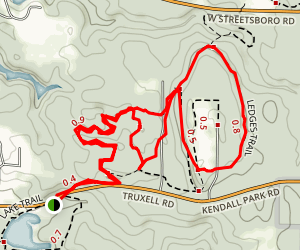 Ledges Trail and Pine Grove Trail Map
