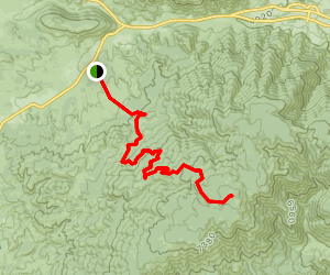 Frazier Mountain Road Map