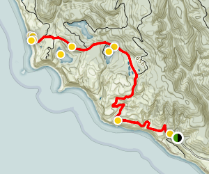 Palomarin Trailhead to Alamere Falls Trail Map