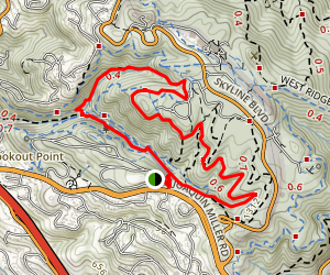 Joaquin Miller Park Loop Map